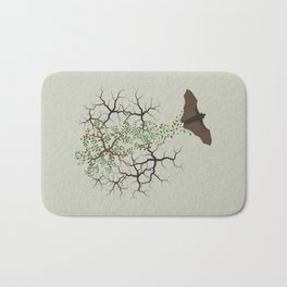 fruit bat paints forest Bath Mat