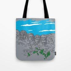 Presidents on a Mountain Tote Bag