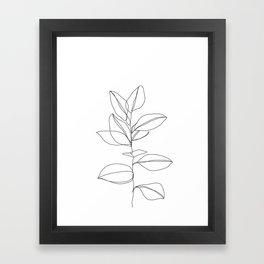 One line plant illustration - Dany Framed Art Print