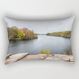 Rainy October day at Babson Rectangular Pillow