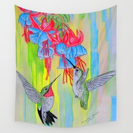 J Humming Bird Wall Tapestry