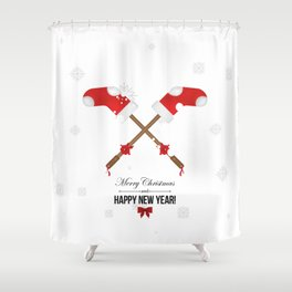 Holiday decorations Shower Curtain