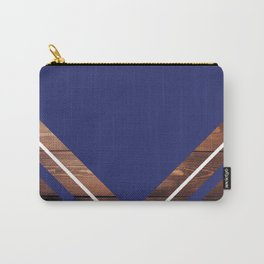 Navy & Wood Carry-All Pouch