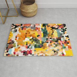 Feel Good Colors, A Warm Abstract Mosaic Rug