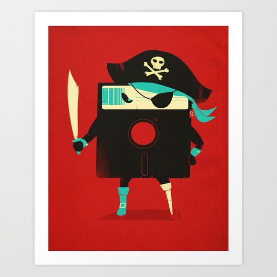 Software Pirate Art Print