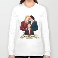 swan queen Long Sleeve T-shirts featuring Swan Mills family by afterlaughtersart