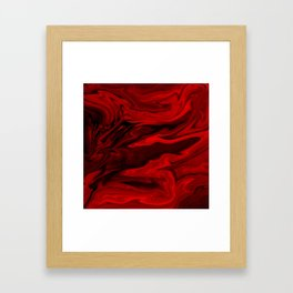 Blood Red Marble Framed Art Print