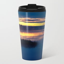 landscape of the lake at morning Travel Mug