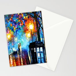 STARRY NIGHT TARDIS Stationery Cards