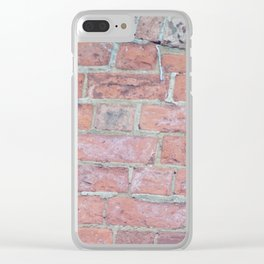 Red Brick Texture Clear iPhone Case