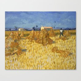 Corn Harvest in Provence by Vincent Van Gogh Canvas Print