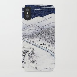 Snowy Night in Japan iPhone Case
