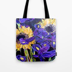 Sunflower & Iris Tote Bag