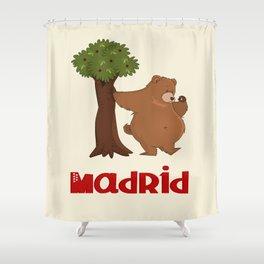 MADRID: Bear and Madrono (v.2) Shower Curtain