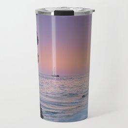 Big Wave. La Joya Beach At Sunset. Spain Travel Mug