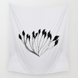 Baesic Mono Floral (Leaf 3) Wall Tapestry