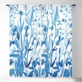 Blue Wildflowers Blackout Curtain