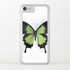 Botanical Bufferfly Green Clear iPhone Case