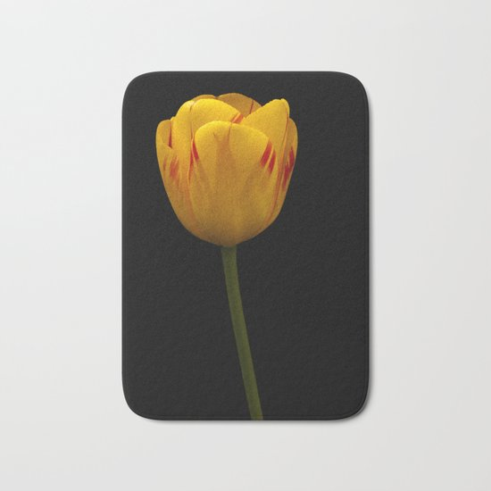 A Flaming Tulip Bath Mat