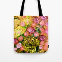 roses Tote Bags featuring Roses  by Saundra Myles