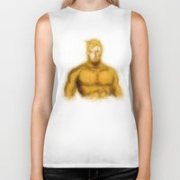 aquaman Biker Tanks featuring Aquaman by KitschyPopShop