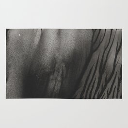 Blackwater Park - abstract watercolor monotype Rug