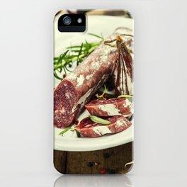 Italian salami iPhone Case