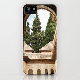 Architecture in the Patio de los Leones iPhone Case