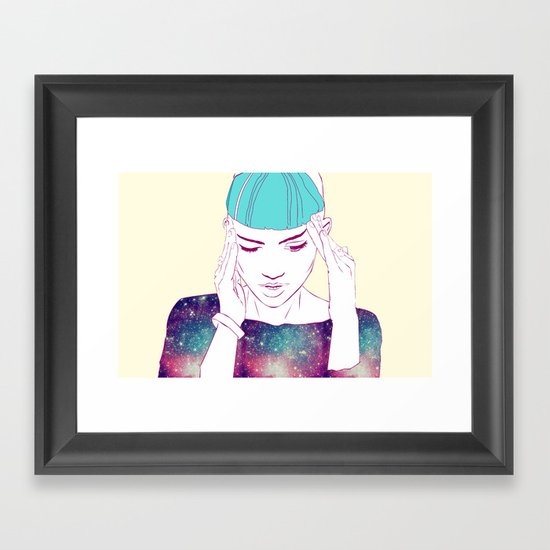 GRIMES Framed Art Print