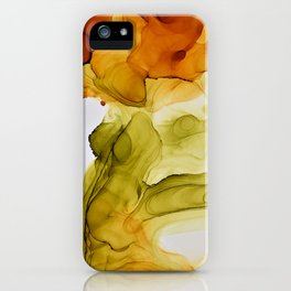 Autumn Ink Composition iPhone Case
