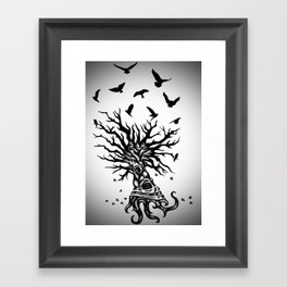 under dry roots. Framed Art Print