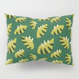 Pretty Clawed Green Leaf Pattern Pillow Sham