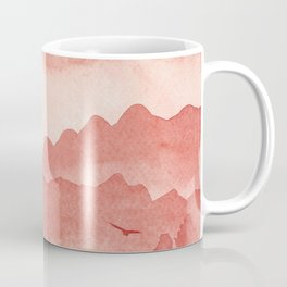 misty mountains - light red palette Coffee Mug