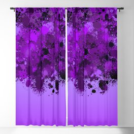 paint splatter on gradient pattern dp Blackout Curtain