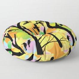 """"""" Bird Menagerie """" Floor Pillow"""