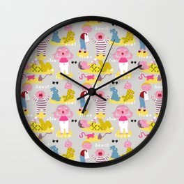 The angry fabric pattern Wall Clock