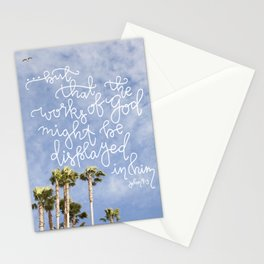 Displayed  |  John 9:3 Stationery Cards