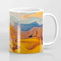 helen Mugs featuring SKY ON FIRE by Catspaws