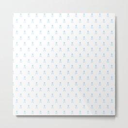 SKULLS PATTERN - LIGHT BLUE - LARGE Metal Print