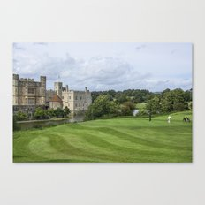 Putting at Leeds Castle Golf Course Canvas Print
