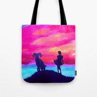 aries Tote Bags featuring Aries by Krista May