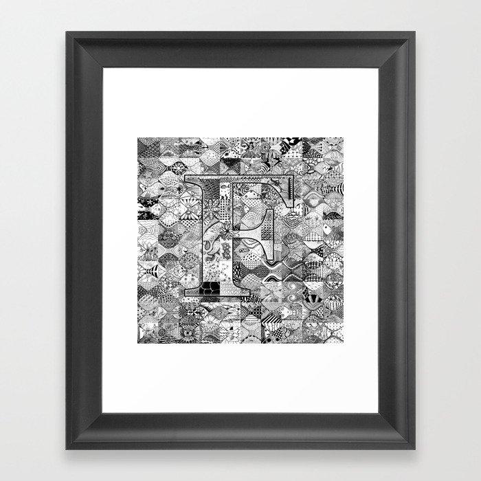 The Letter F Framed Art Print