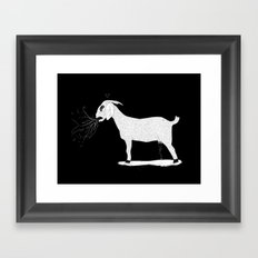 goat milk? Framed Art Print