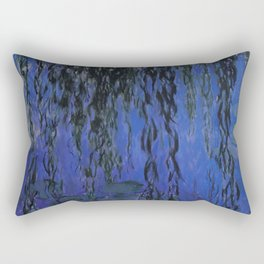"""Claude Monet """"Water Lilies and Weeping Willow Branches"""", 1919 Rectangular Pillow"""