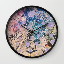 Garden Snow Wall Clock