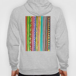 Striped Curtain Hoody