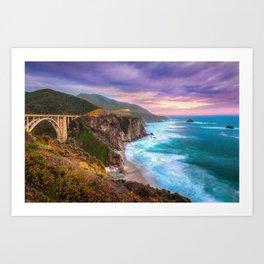 Big Sur Bixby Bridge Adventure Art Print