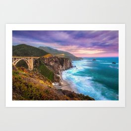 Big Sur Bixby Bridge Adventure Art Print