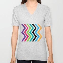 Colorful Zig Unisex V-Neck