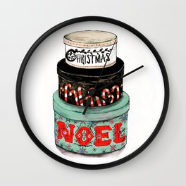 christmas box Wall Clock